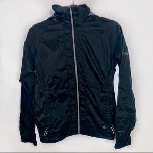 [Columbia] Black Windbreaker Jacket - Medium